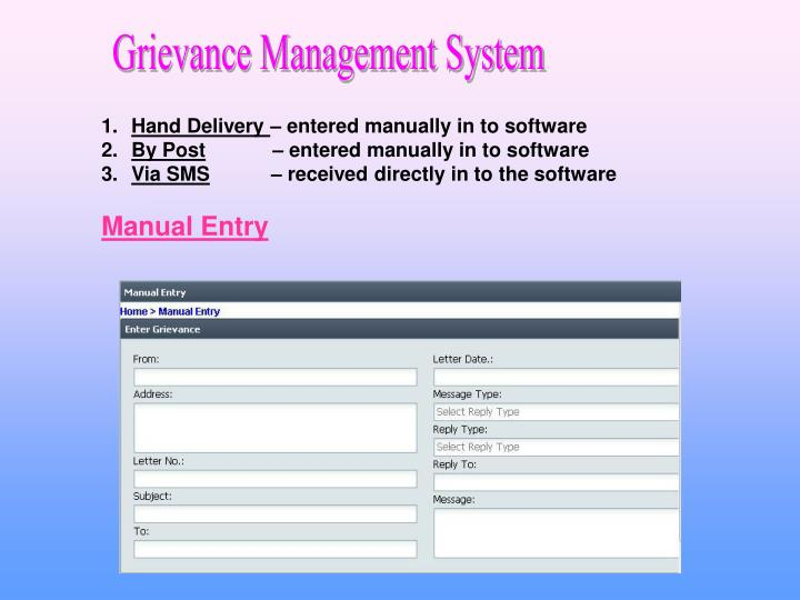 Grievance Management System