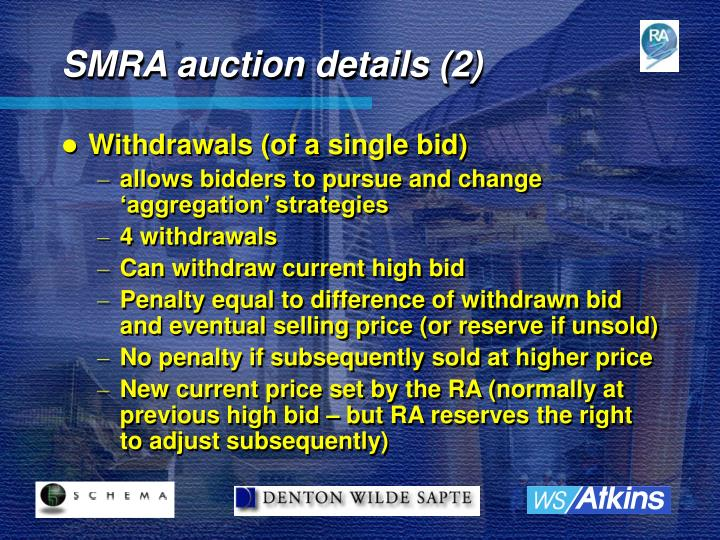 SMRA auction details (2)