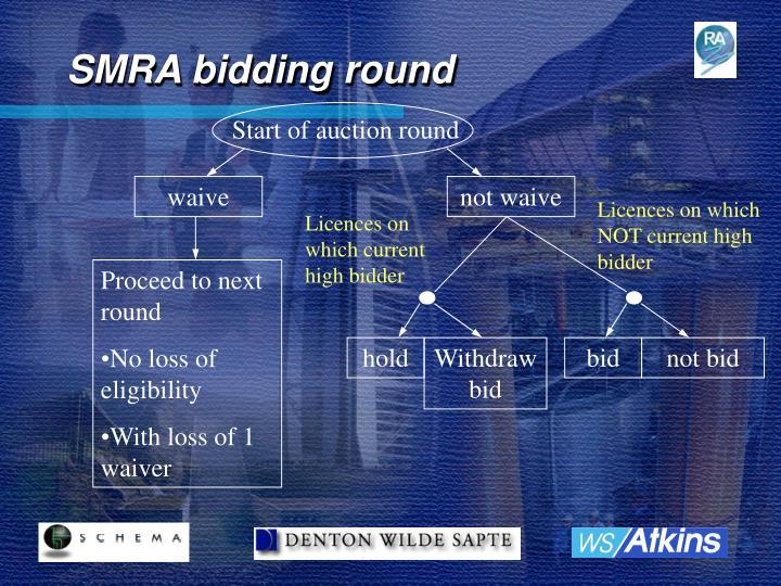 SMRA bidding round