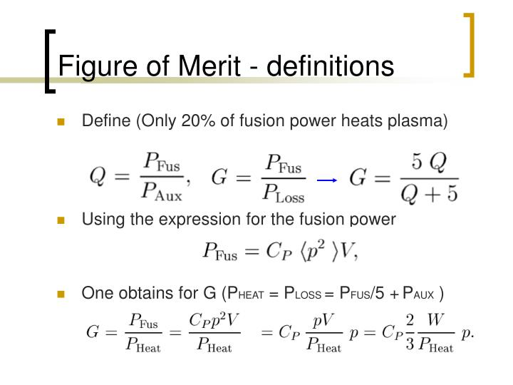 Figure of Merit - definitions