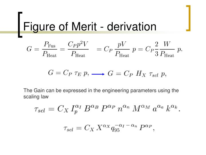 Figure of Merit - derivation