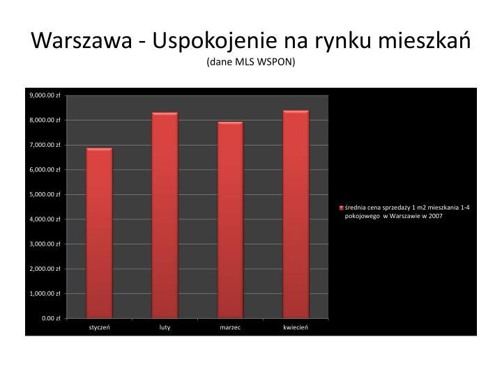 Warszawa - Uspokojenie na rynku mieszkań