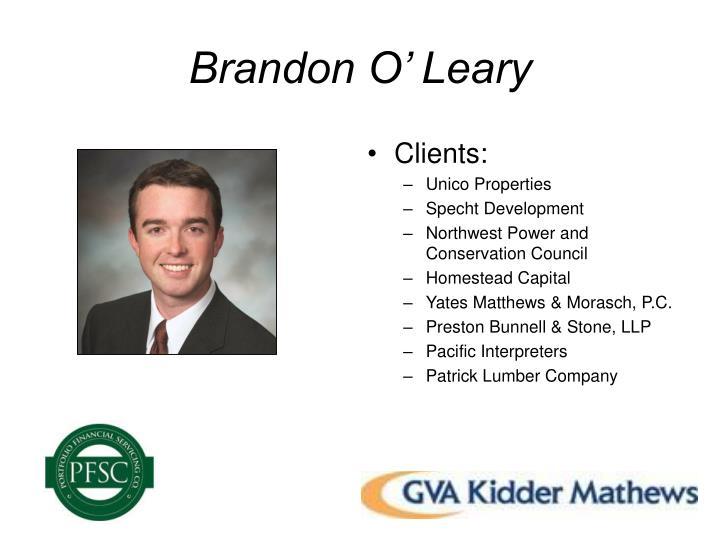 Brandon O' Leary