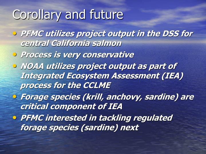 Corollary and future