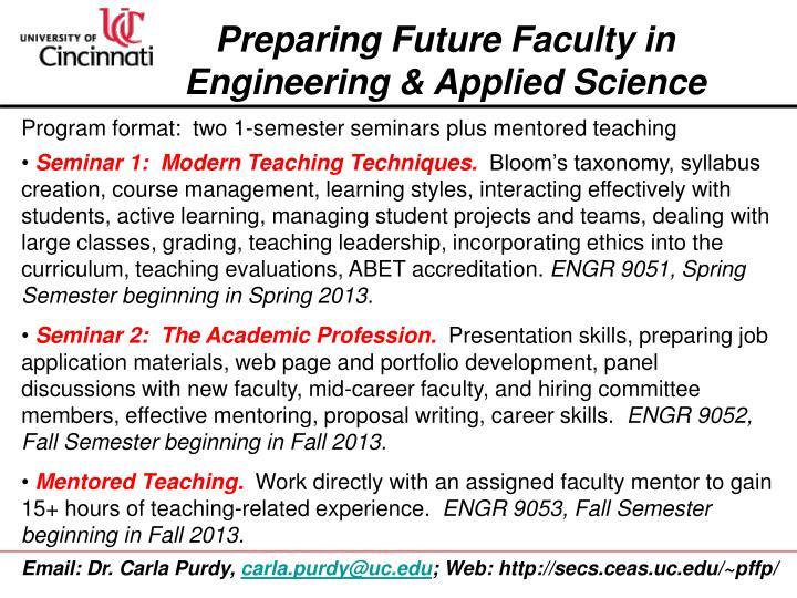 Preparing Future Faculty in