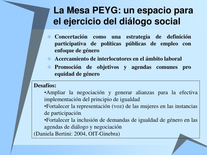 La Mesa PEYG: un espacio para el ejercicio del diálogo social