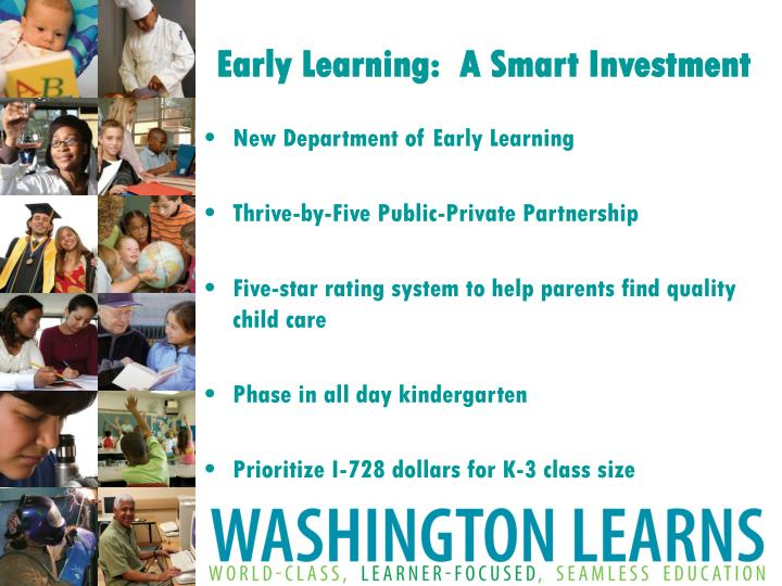 Early Learning:  A Smart Investment