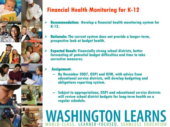 Financial Health Monitoring for K-12