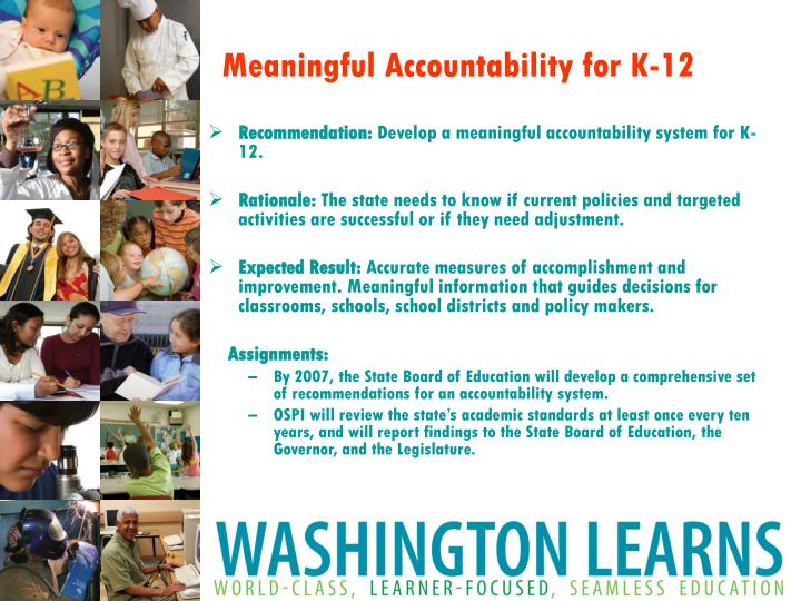 Meaningful Accountability for K-12