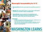 meaningful accountability for k 12