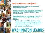 more professional development