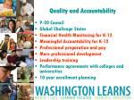 quality and accountability