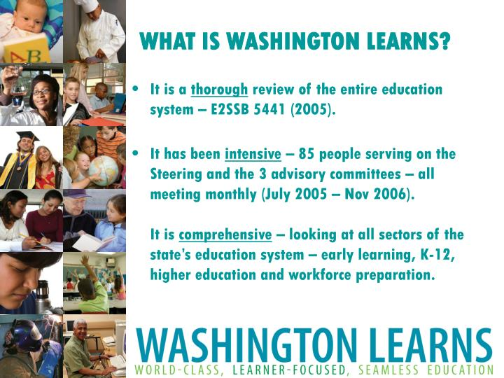 What is washington learns