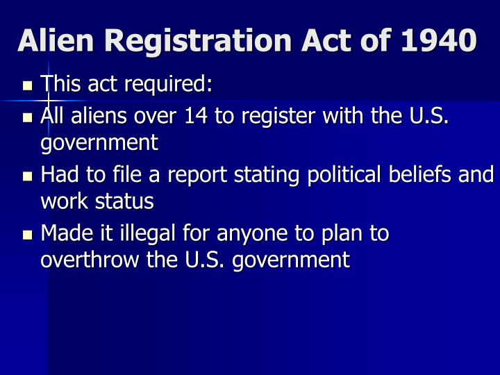Alien Registration Act of 1940
