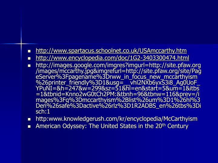 http://www.spartacus.schoolnet.co.uk/USAmccarthy.htm
