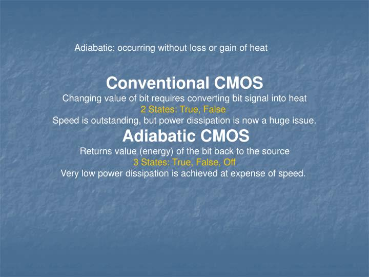 Adiabatic: occurring without loss or gain of heat