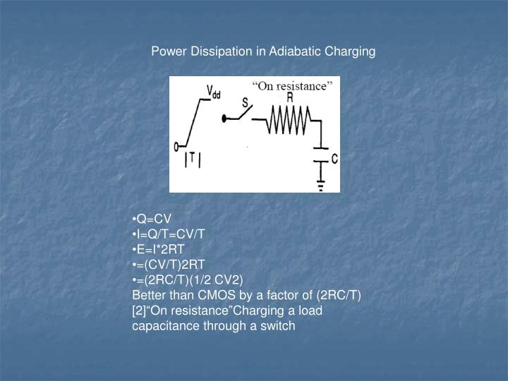 Power Dissipation in Adiabatic Charging