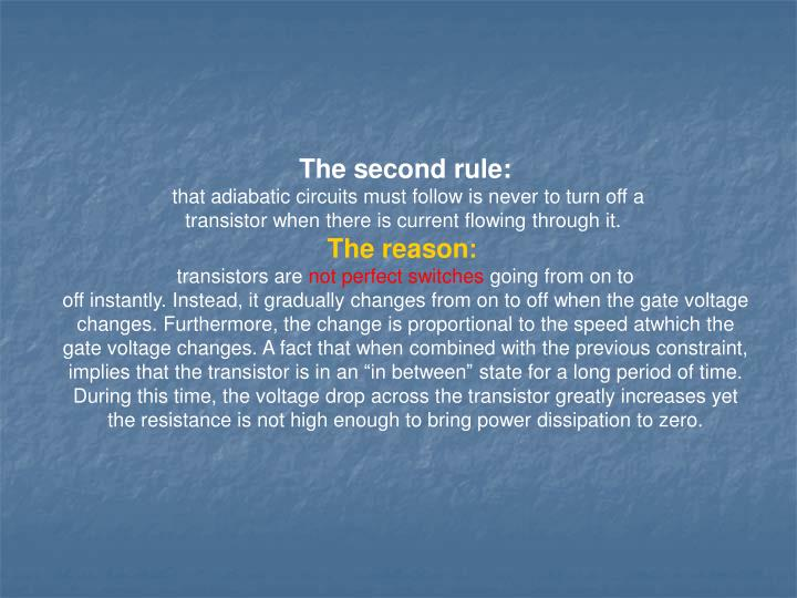 The second rule: