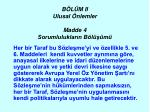 b l m ii ulusal nlemler madde 4 sorumluluklar n b l m