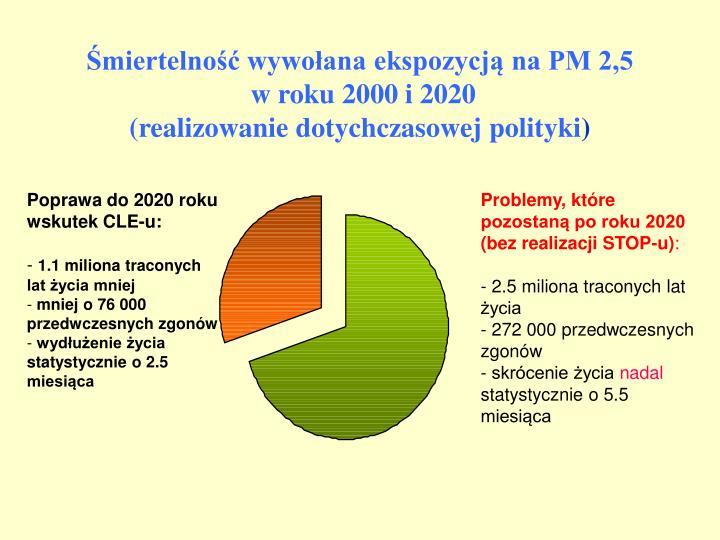 Śmiertelność wywołana ekspozycją na PM 2,5