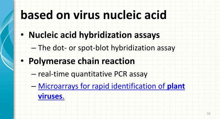 based on virus nucleic acid