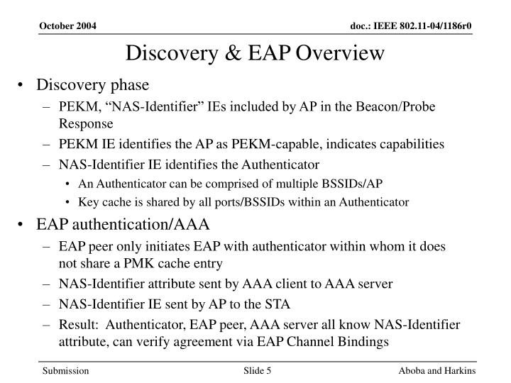Discovery & EAP Overview