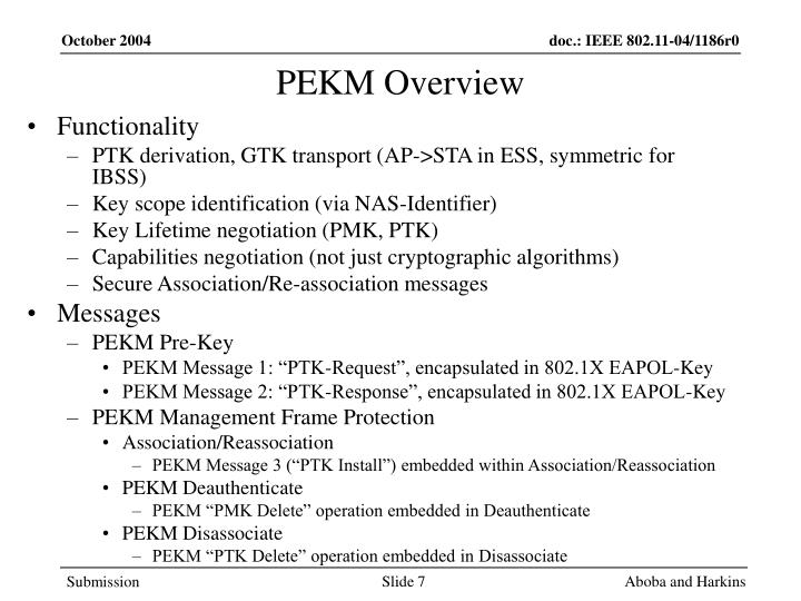 PEKM Overview