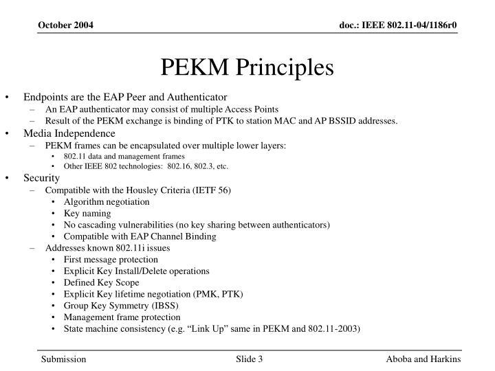 PEKM Principles