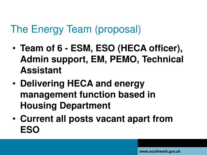 The Energy Team (proposal)