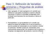 paso 3 definici n de variables primarias y preguntas de an lisis