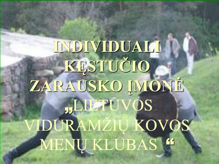 INDIVIDUALI K