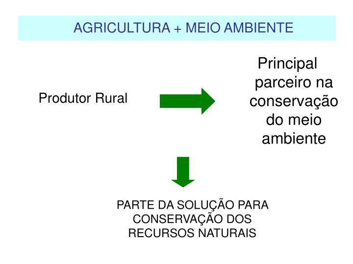Principal parceiro na conservação do meio ambiente