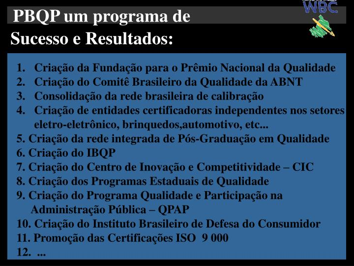 PBQP um programa de