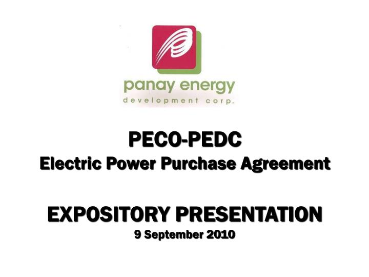 Peco pedc electric power purchase agreement expository presentation 9 september 2010