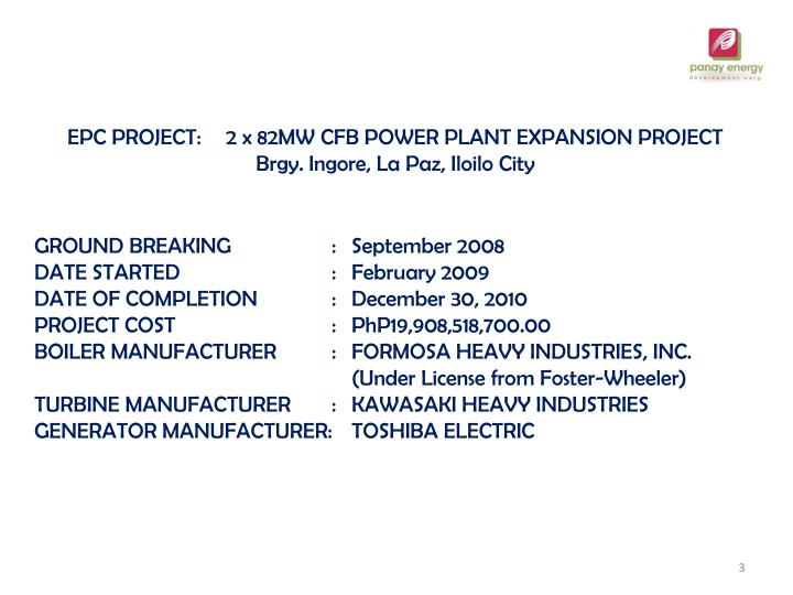 EPC PROJECT:2 x 82MW CFB POWER PLANT EXPANSION PROJECT