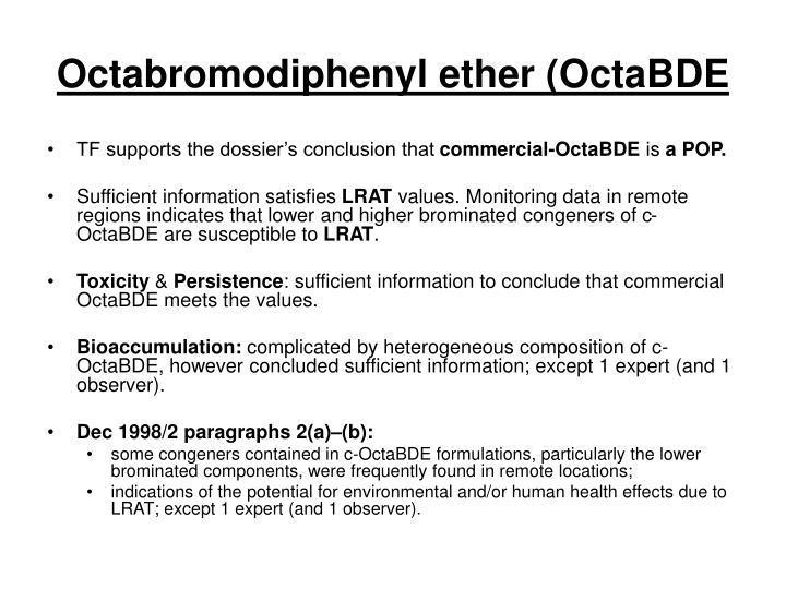 Octabromodiphenyl ether (OctaBDE