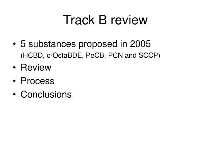 Track B review