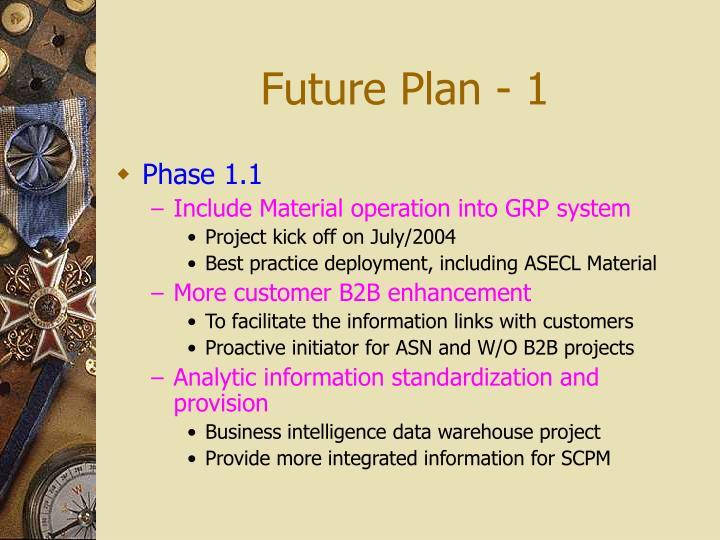 Future Plan - 1