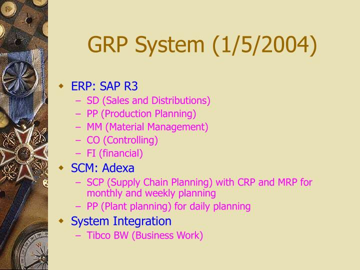 GRP System (1/5/2004)