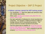 project objective sap ii project