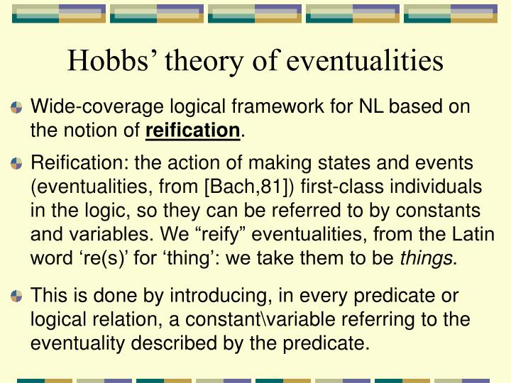 Hobbs' theory of eventualities