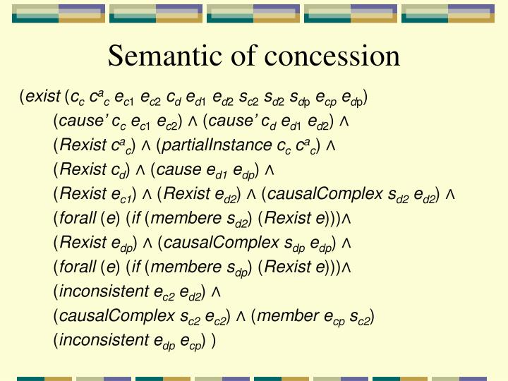 Semantic of concession