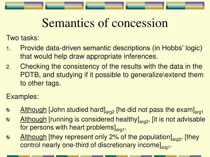 Semantics of concession