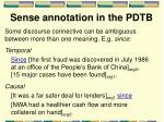 sense annotation in the pdtb