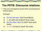 the pdtb discourse relations