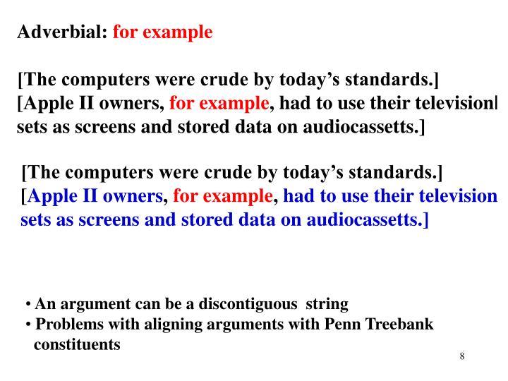 Adverbial: