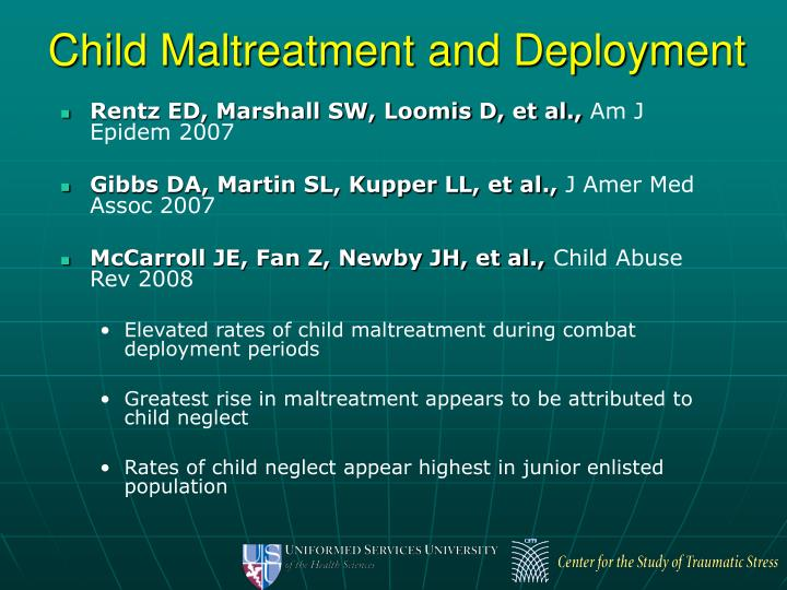 Child Maltreatment and Deployment