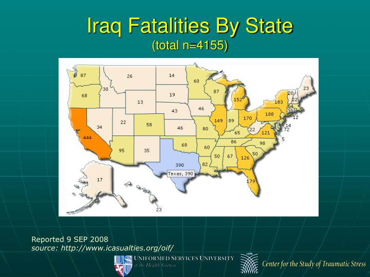 Iraq Fatalities By State