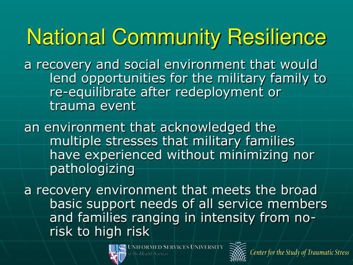 National Community Resilience