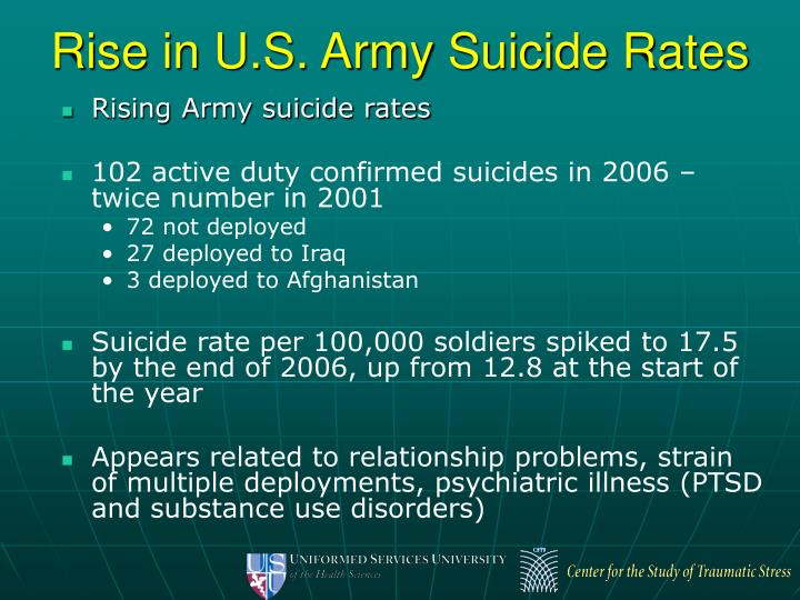 Rise in U.S. Army Suicide Rates